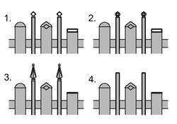 LatteZwischenstab-Vierkantstabkappenneu